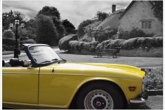 Cars in Campden ~ TR6 PI in Westington