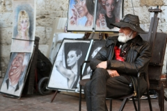 Images of Italy ~ Photobox book ~ pastel portraits in San Gimignano ~ 0112